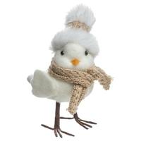 Oiseau avec bonnet/écharpe à poser
