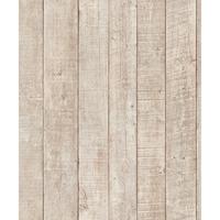 Papier peint intissé planche bois beige