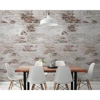 Papier peint vinyle sur intissé Brick blanc et marron