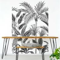 Papier peint vinyle Motif tropical forest blanc et noir