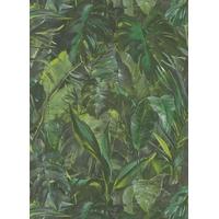 Papier peint intissé feuillages verts