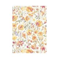 Papier peint intissé récolte fleurs oranges