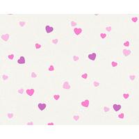 Papier peint expansé mini coeur violet/rose