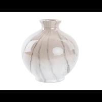 Vase aspect marbre taupe et gris