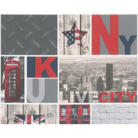 Papier peint duplex LONDON NEW YORK
