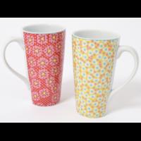 Coffret 2 mugs FIORI XL 15cm