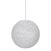 Suspension Moon tressée blanc