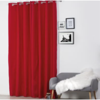 RIDEAU ISOLANT ROUGE 140X260