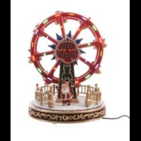 Grande roue Père Noël lumineux LED 26.4x21x21cm