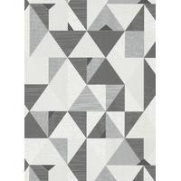 Papier peint triangles gris scandi