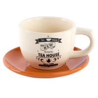 Ensemble tasse + soucoupe TEA HOUSE