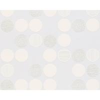 Papier peint intissé ronds blancs
