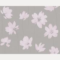 Papier peint intissé Tijelle fleurs roses et fond taupe