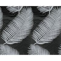 Papier peint expansé palmes noir argent