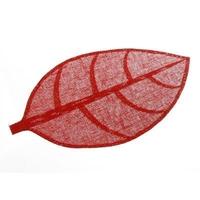 Set de table feuille 50x33 rouge