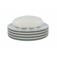 Porte savon taupe/blanc Tube Stripes