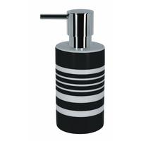 Distributeur de savon Noir&Blanc Tube Stripes