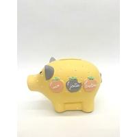 Tirelire cochon jaune pastel