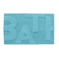 Tapis de bain BATH Turquoise coton 50x80