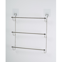 Porte serviette PASTE 3 barres fixes inox