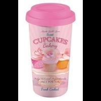 Mug + couvercle rose - Cupcakes Bakery
