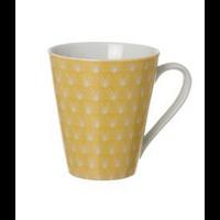 Mug conique jaune pastel