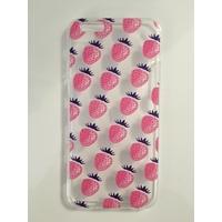 Coque en silicone imprimée fraises - iPhone 6/6S