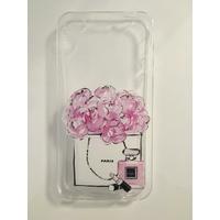 Coque en silicone imprimée parfum/fleurs - iPhone 4/4s