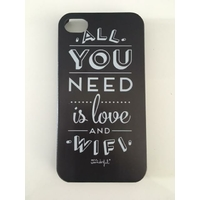"Coque imprimée ""All You Need Is Love And Wifi"" Mr Wonderful - iPhone 4s"