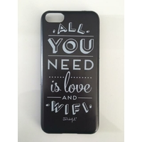 "Coque imprimée ""All You Need Is Love And Wifi"" Mr Wonderful - iPhone 5c"