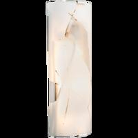 Applique WEISS METAL verre 2xE27