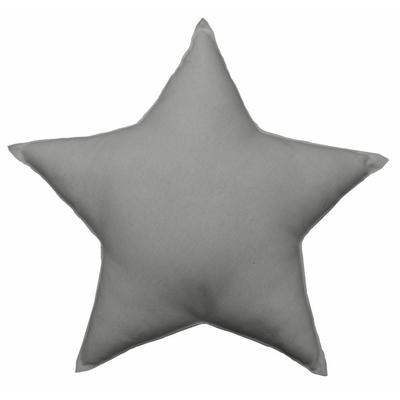 coussin-uni-en-forme-d-etoile-gris-40-cm
