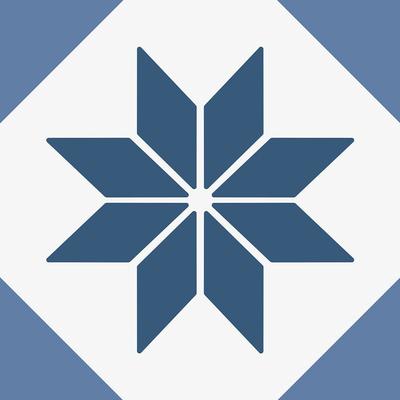 carrelage-adhesif-etoile-graphique-bleue