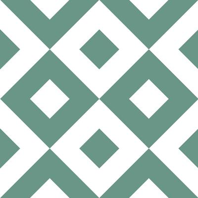 carrelage-adhesif-losanges-vert-blanc