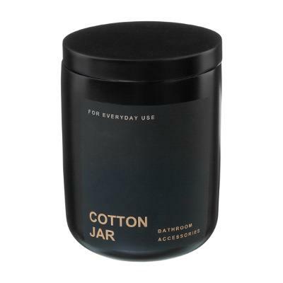 POT A COTON POLYRESINE BLACK