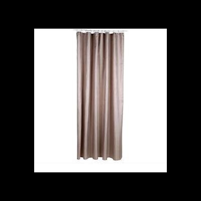 rideau de douche polyester taupe pour la salle de bain rideaux de douche au carrousel dore. Black Bedroom Furniture Sets. Home Design Ideas