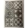 6 stickers carreau de ciment ardoise