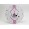 Horloge en verre rose Marquise 30 cm
