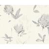 papier peint fleur gris 1