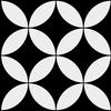 carrelage-adhesif-rosaces-noir-blanc