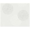 Papier peint intissé fleurs bulles blanc/gris