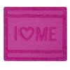 Tapis LOVE 55x65 coton Rose