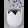 Vase tulipe blanc 15x21cm