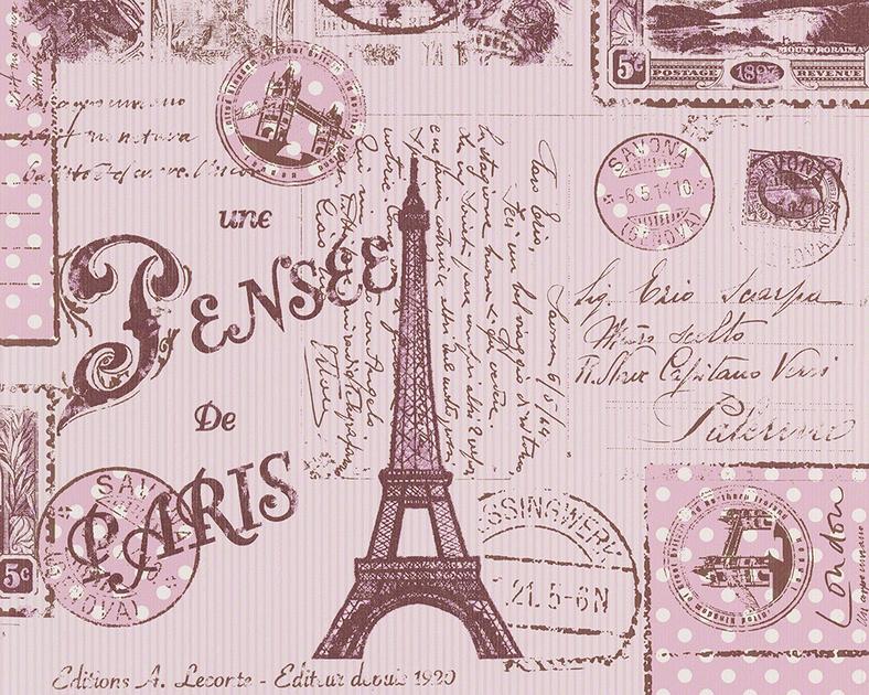 Papier Peint Pense Paris Rose Girl Papiers Peints Papier Peints A