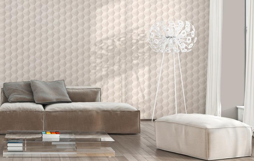 papier peint intiss g om trique scandinave beige embellissement des murs papiers peints au. Black Bedroom Furniture Sets. Home Design Ideas