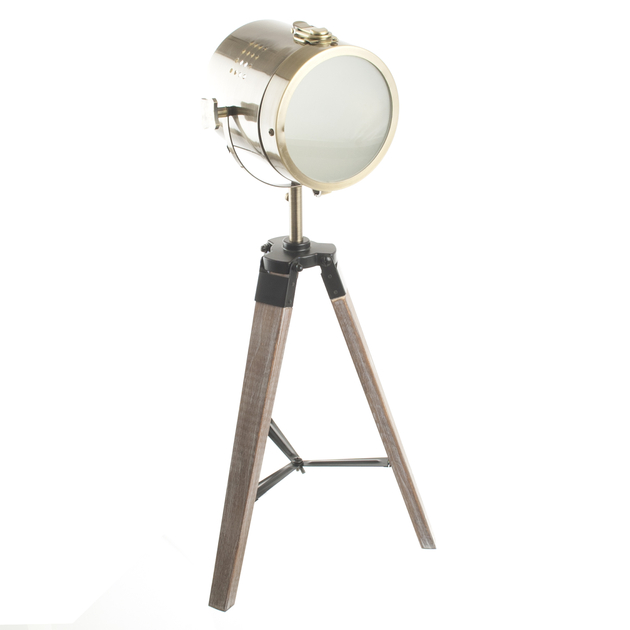 lampe poser r tro projecteur vintage luminaires lampes poser au carrousel dore. Black Bedroom Furniture Sets. Home Design Ideas