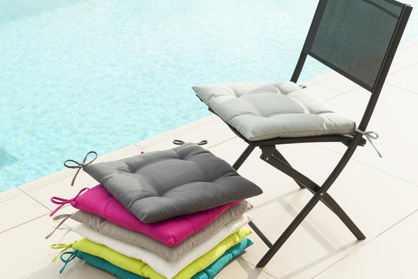 galette de chaise 40x40 bleu lagon - Coussin De Chaise 40x40