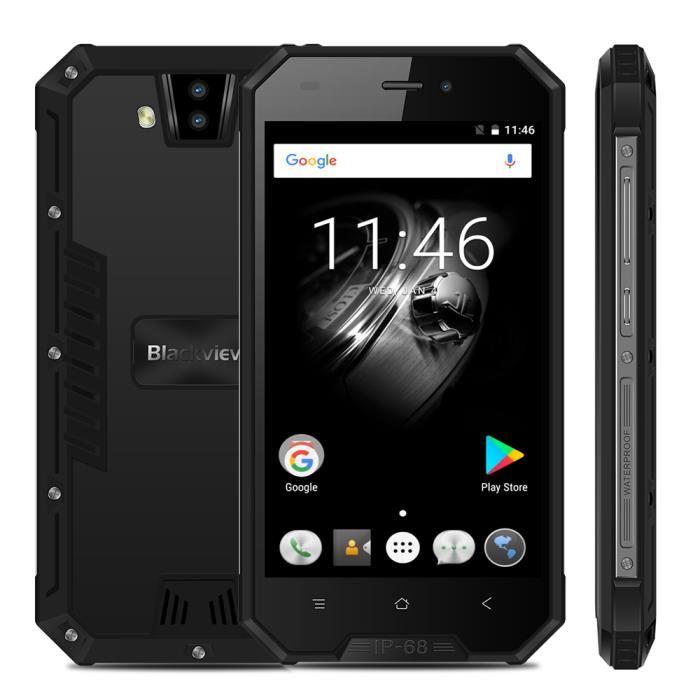 smartphone blackview bv4000 4 7 3g ip68 noir infinytech reunion. Black Bedroom Furniture Sets. Home Design Ideas