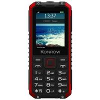 "GSM KONROW Stone Pro 2,4"" IP68 Noir/Rouge"