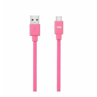 Câble WE CONNECT USB-C vers USB 2.0 Plat 1m Fushia